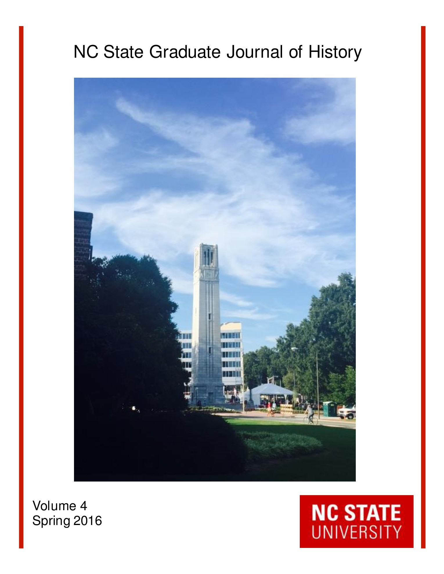 View Vol. 4 (2016): NC State Graduate Journal of History